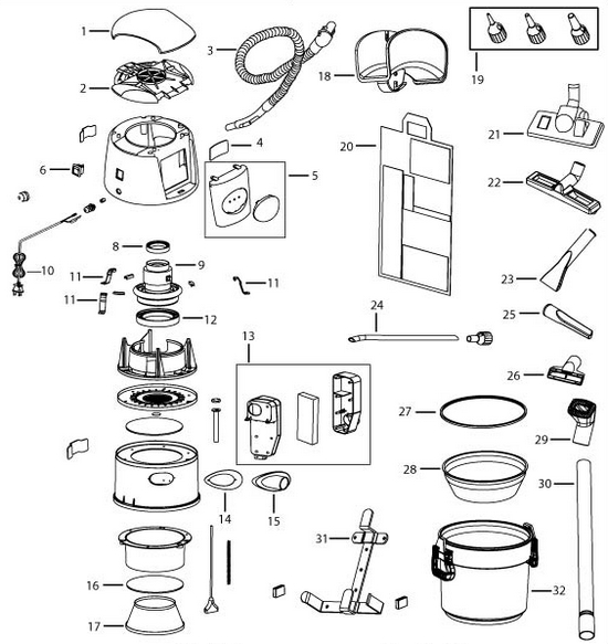 Bissell 18P03 Garage Pro Wet and Dry Vacuum Parts