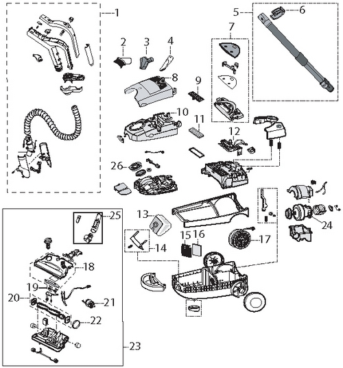 Bissell 6900 Digipro Canister Vacuum Parts Diagram