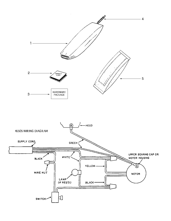 Eureka 1934B Upright Vacuum Bag & Wiring Diagram