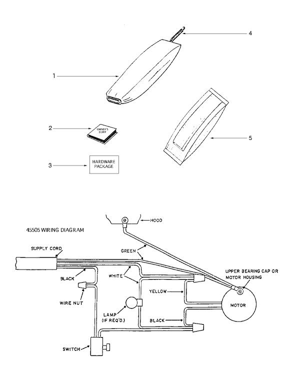 Eureka 1934B Upright Vacuum Bag & Wiring Diagram