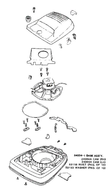 Eureka Series 1400 Factory Parts Diagrams and Schematics