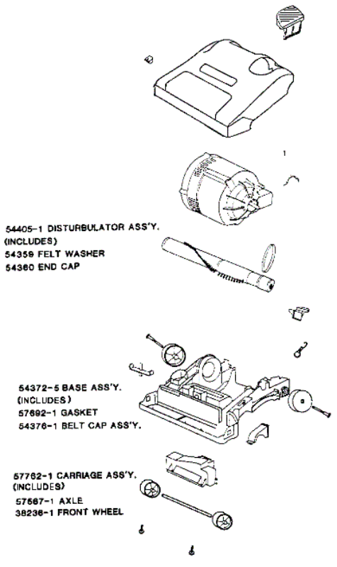 Eureka Series 9000 Factory Parts Diagrams and Schematics