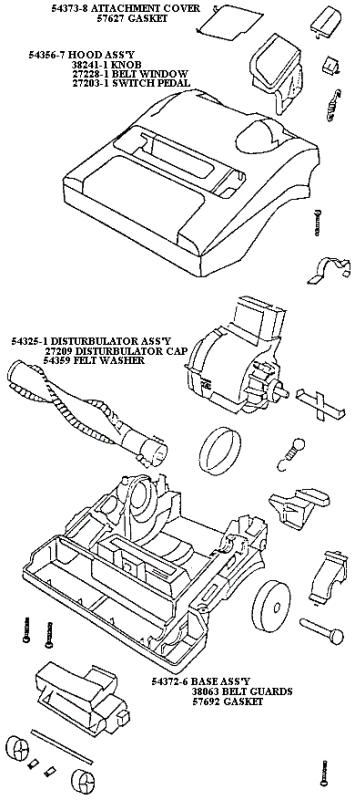 Eureka Series 9700 Factory Parts Diagrams and Schematics
