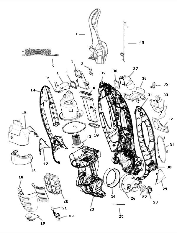 Eureka Series 8800 Factory Parts Diagrams & Schematics