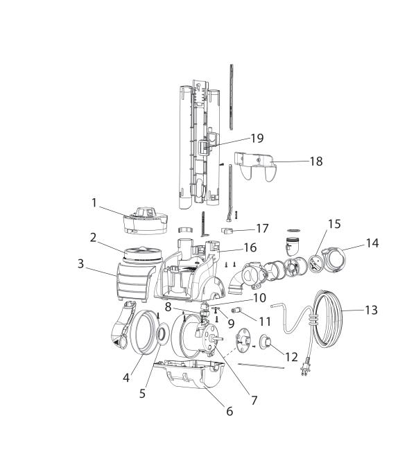 Electrolux EL8400A Upright Vacuum Parts List and Diagram