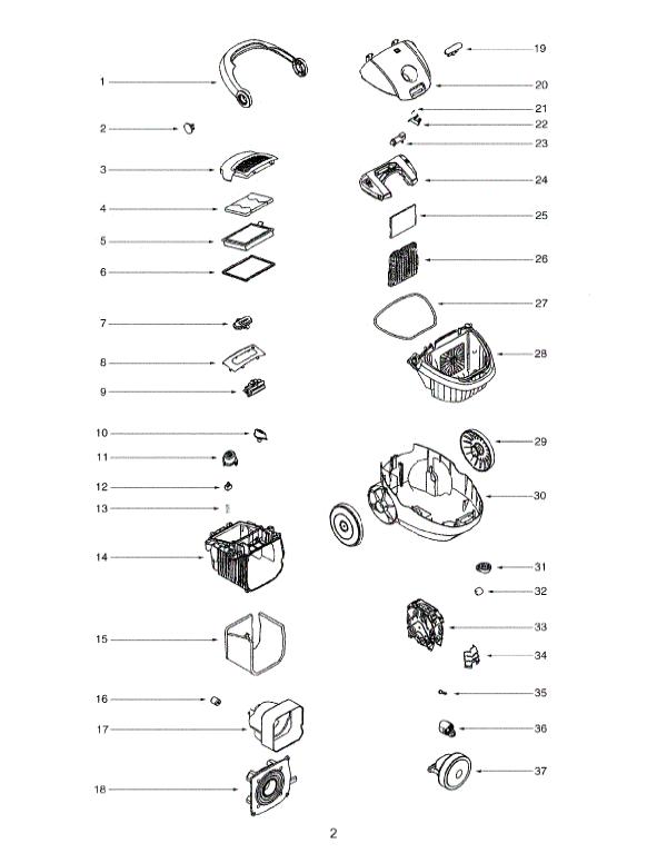 Electrolux Harmony Ultra Silencer Parts EL6985A