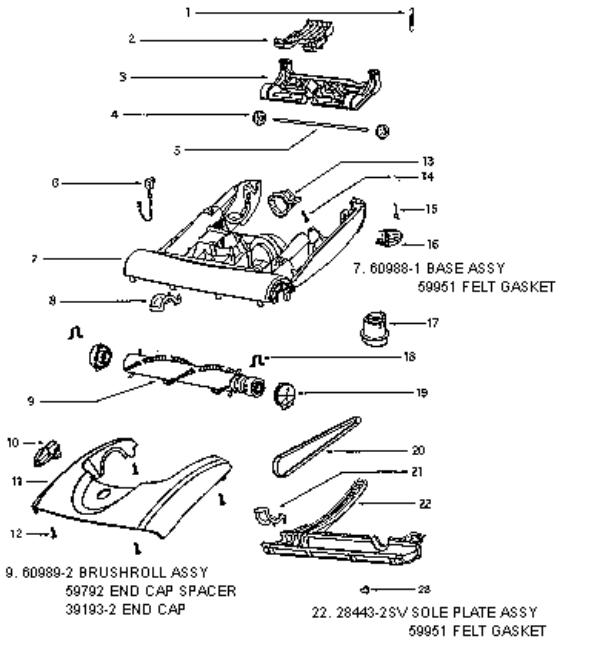 Eureka Series 6200 Factory Parts Diagrams and Schematics
