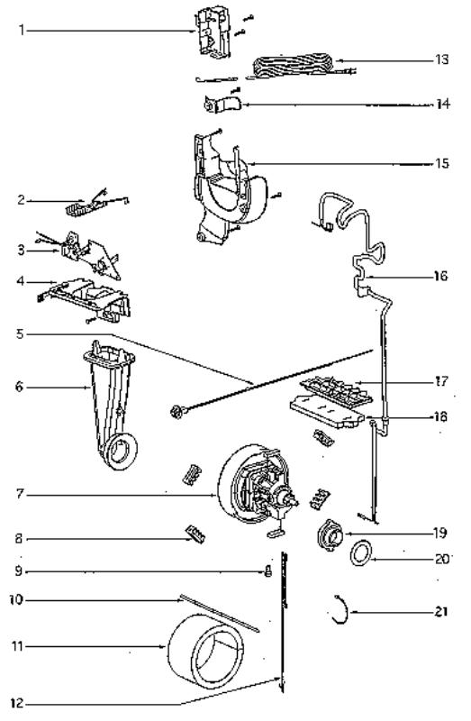 Eureka Series 4800 Factory Parts Diagrams and Schematics