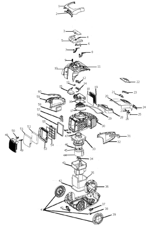 Electrolux UltraSilencer DeepClean Parts EL7060A