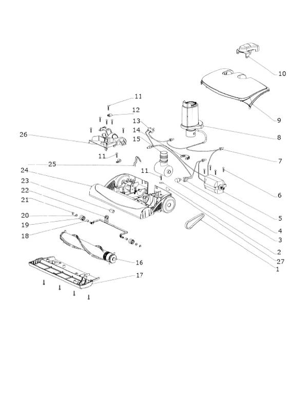 Electrolux Oxygen Clean Air Canister Parts EL6988D