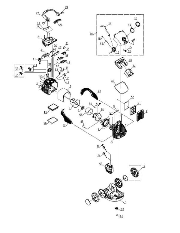 Electrolux Oxygen3 Canister Vacuum Parts EL7020B