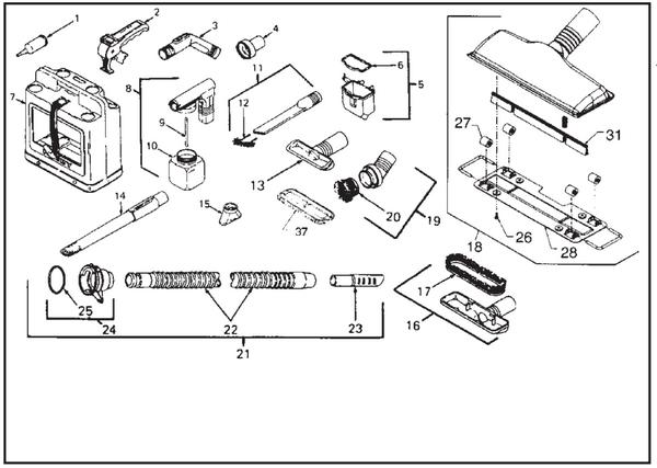 Kirby Sentria Vacuum Parts Diagrams & Schematics