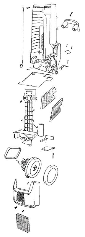 Sanitaire SC6484DT Parts List and Diagram-eVacuumStore