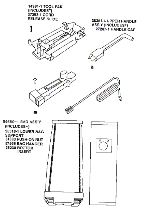 Eureka Model 9824AT Vacuum Cleaner Parts: Factory Parts