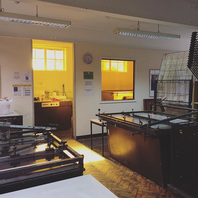 One of my favourite places in Cambridge #printmaking #printmakingstudio #cambridgeschoolofart #machildrensbookillustration #angliaruskinuniversity