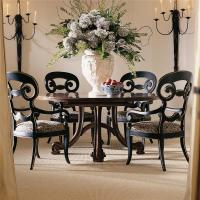 Antique Round Dining Table Set for 4