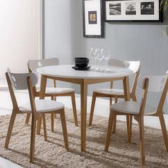 White Round Kitchen Table Hotel With Hong Kong Modern Dining Set For 4 Eva Furniture