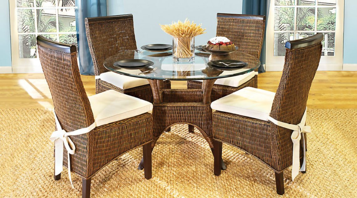 Rattan Round Casual Dining Room Sets