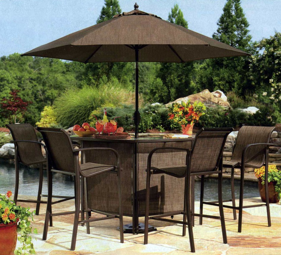 patio dining sets with umbrella