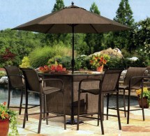 Outdoor Patio Bar Sets with Umbrella