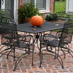 Antique Cast Iron Garden Table And Chairs Green Slipper Chair Patio Set Furniture Eva