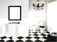 15 Gorgeous Black and White Tile Bathroom Design Ideas ...