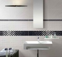 Simple Black and White Bathroom Tile for Backsplash Usage