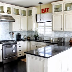Kitchen Cabinet White Compost Bins U Shaped Ideas With Cabinets