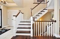 Beautiful Stair Railing Interior Design Idea Building Wood