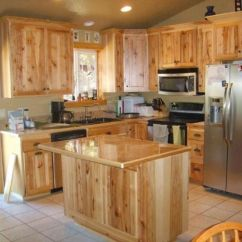 Rustic Kitchen Cabinet Led Ceiling Lights 20 Hickory Cabinets Design Ideas Eva Furniture Picture