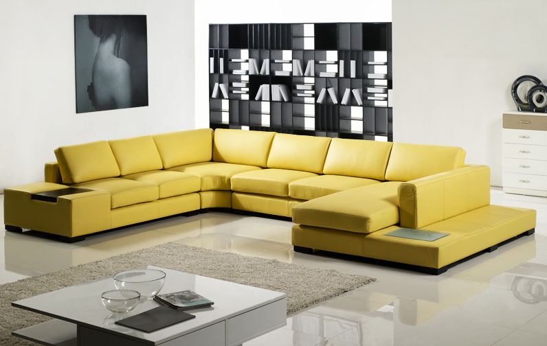 Leather Sectional Sofa Modern Leather Sectional