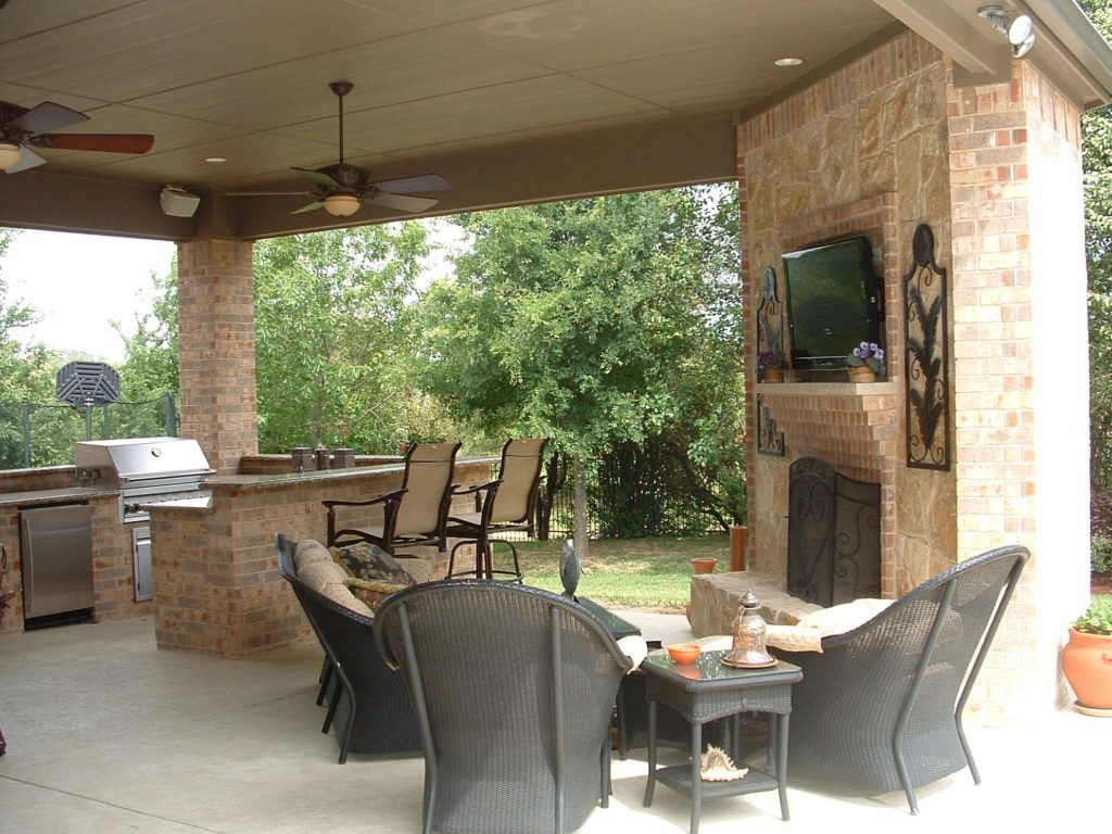 outdoor kitchen with fireplace samsung appliance set kitchens fireplaces eva furniture