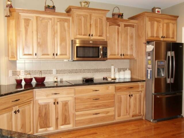 Denver Hickory Kitchen Cabinets EVA Furniture