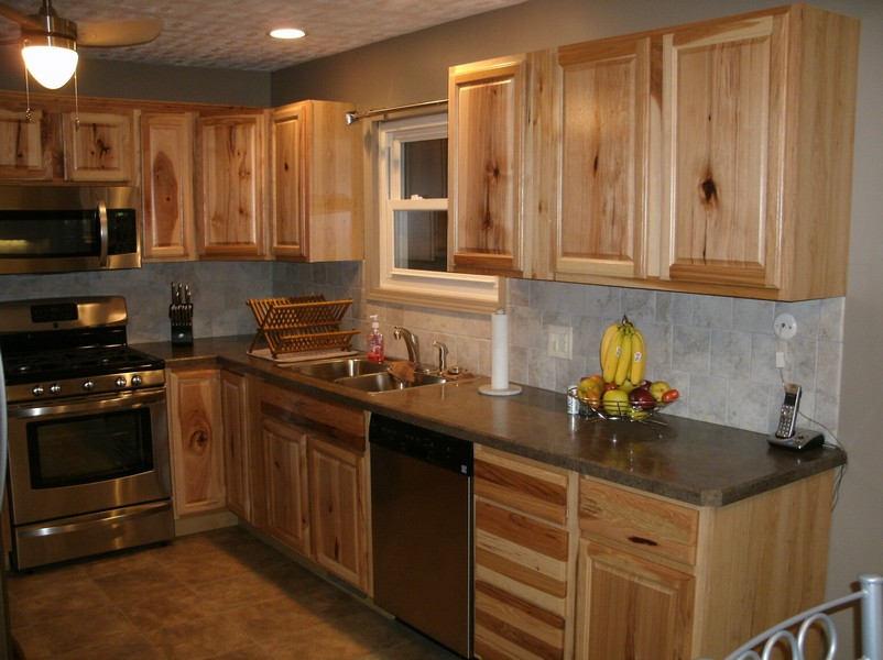 Hickory Wood Cabinets Kitchens EVA Furniture