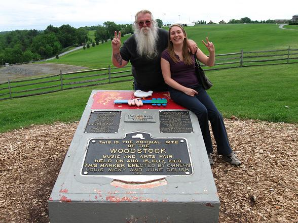 Me and Duke Devlin at the monument