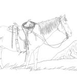 Western Horse Montana Scenery Printable
