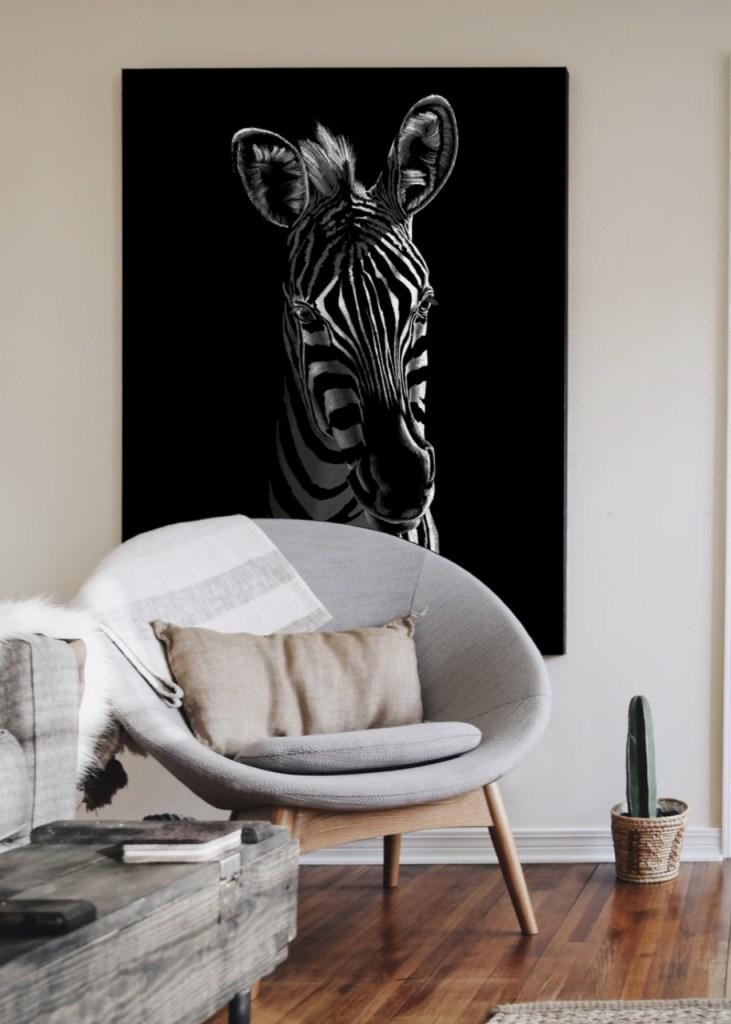 Zebra Totem Fine Art Print