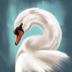 How to paint a swan in Procreate