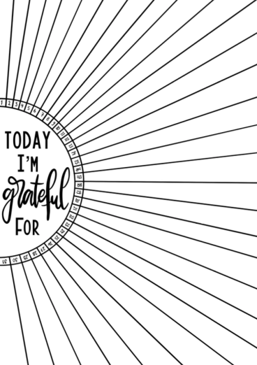 Daily printable gratitude log