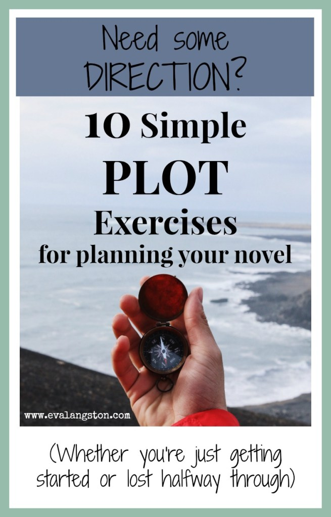 10 Simple Plot Exercises to help you plan your novel (whether you're just getting started or lost halfway through)