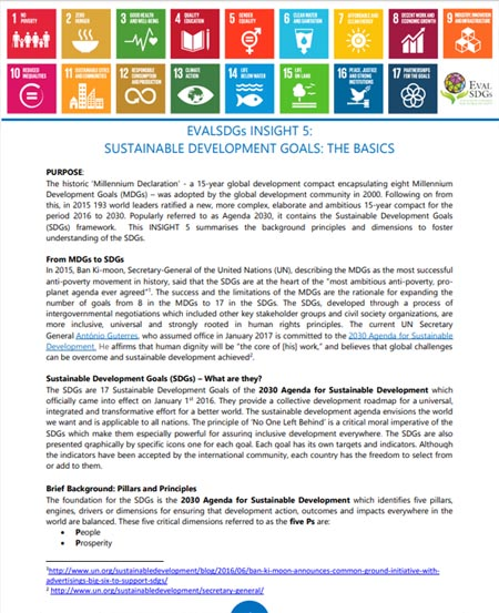 5: Sustainable Development Goals: The Basics