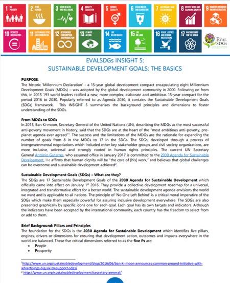 5: Sustainable Development Goals: The Basics
