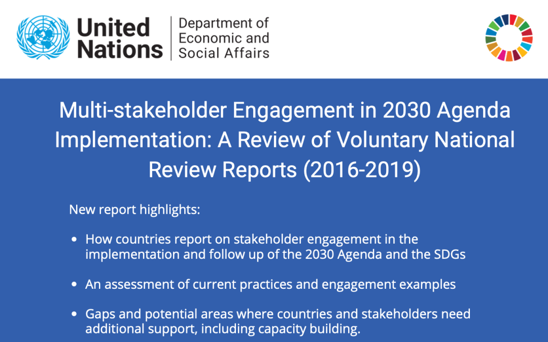 Multi-stakeholder Engagement in 2030 Agenda Implementation: A Review of Voluntary National Review Reports (2016–2019)