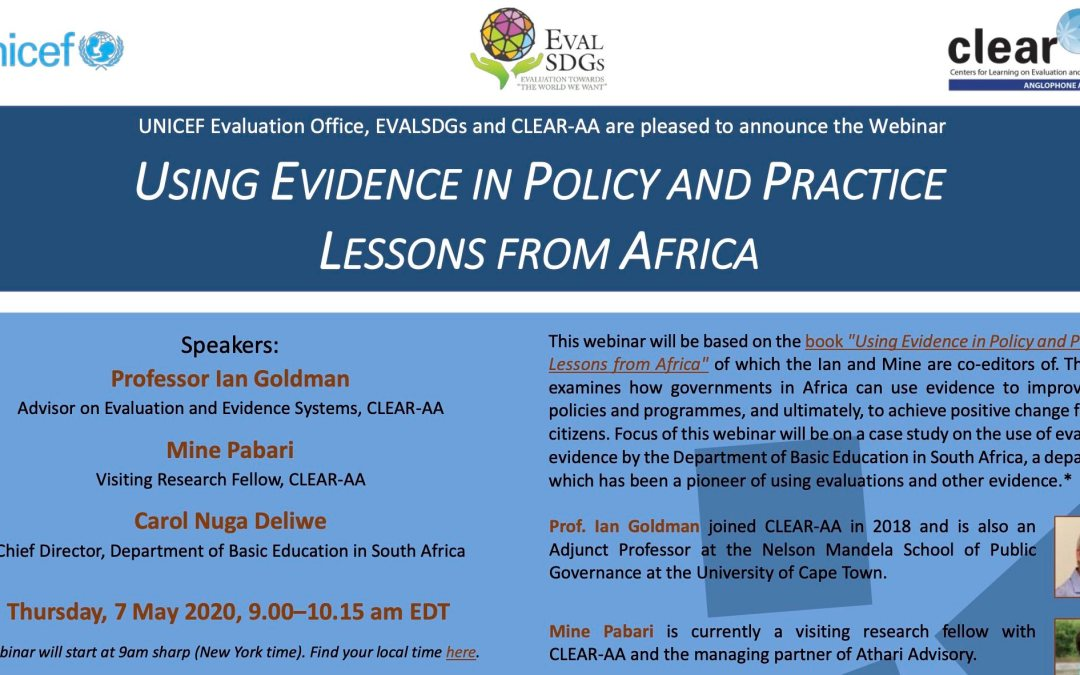 Webinar: Using Evidence in Policy and Practice – Lessons from Africa