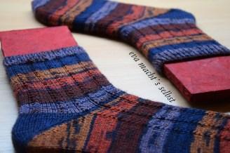 Socken stricken Muster Hauch von nichts Sockenbretter