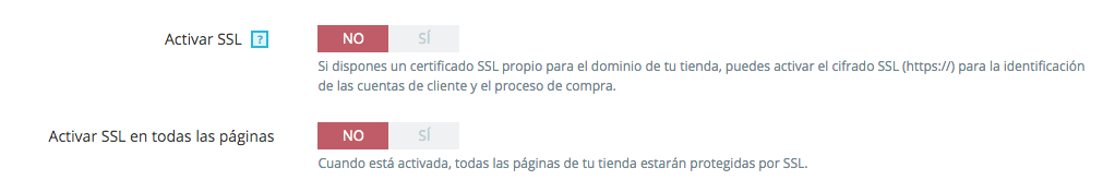 Activar ssl en prestashop 1.7