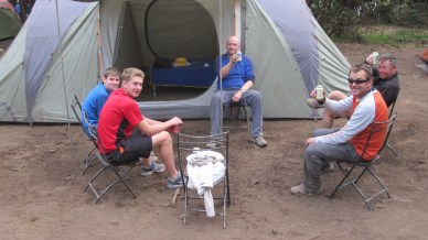 Arrival at Mweka Camp