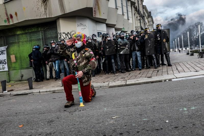 Emeutes / Nantes 22 février 2014 par Evan FORGET - Photographe