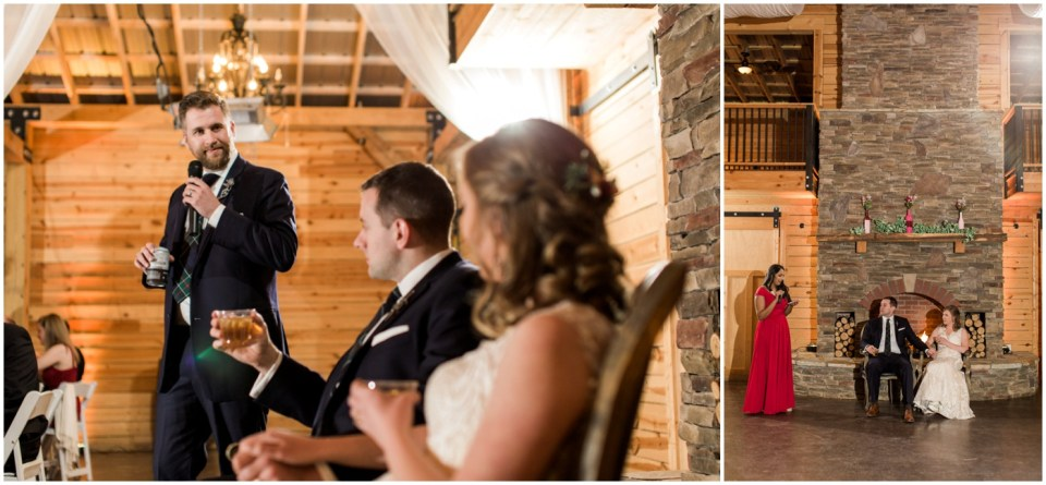 Wheeler House Photographer Reception Toasts