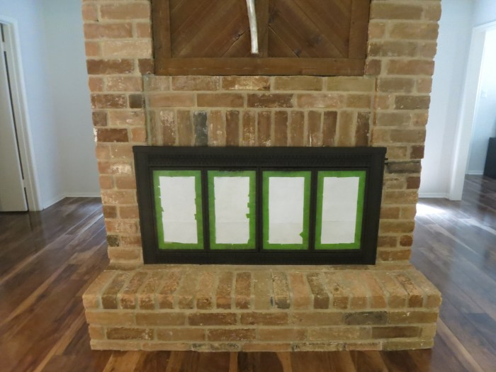 How to paint your fireplace from brassy to black - evanandkatelyn.com